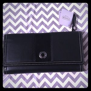 New COACH BLACK LEATHER WALLET WITH TAGS